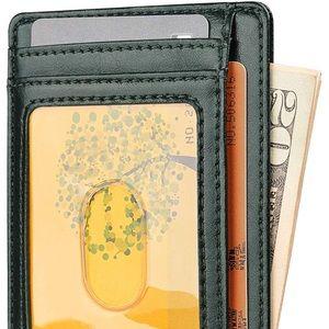 Minimalist AK GREEN Slim RFID BLOCKING WALLET *NWT